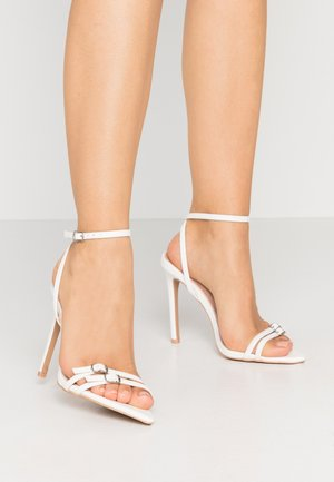WESTRA - High heeled sandals - white