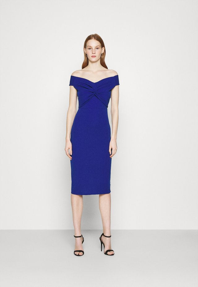 JORDYN OFF THE SHOULDER MIDI DRESS - Cocktailjurk - electric blue
