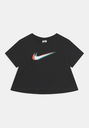 CROP TEE - T-shirt imprimé - black