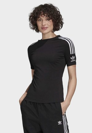 TIGHT T-SHIRT - Printtipaita - black