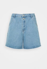 Missguided Plus - BERMUDA MID WASH - Shorts di jeans - blue - 0