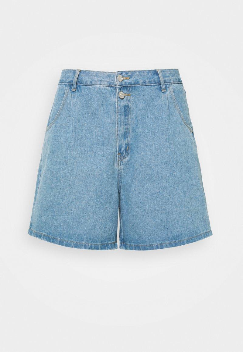 Missguided Plus - BERMUDA MID WASH - Shorts di jeans - blue