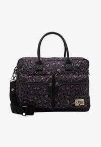 Kidzroom - DIAPER BAG KIDZROOM CARE LEOPARD LOVE - Taška na přebalování - black - 1