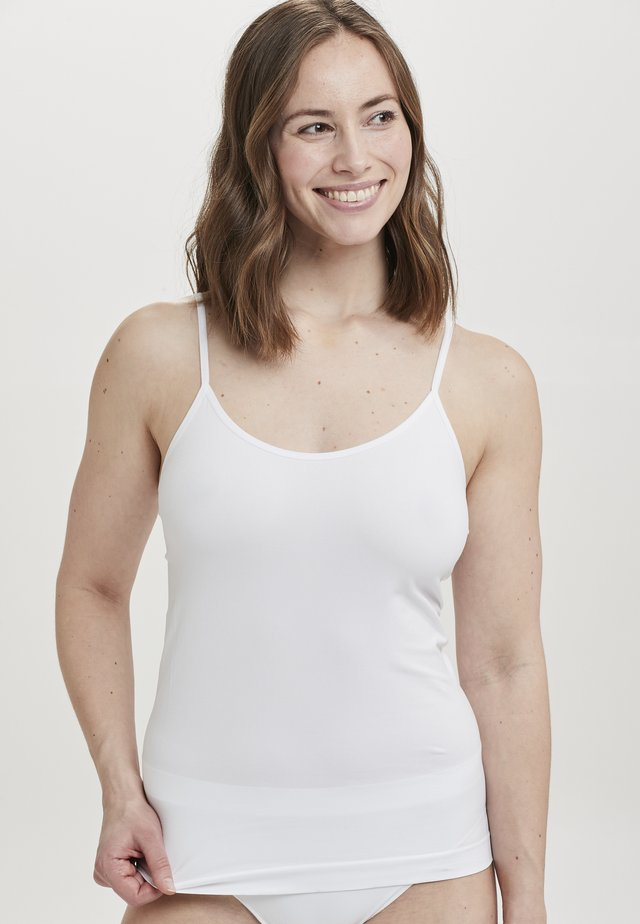 DECOY TOP W/NARROW STRAPS - Caraco - white