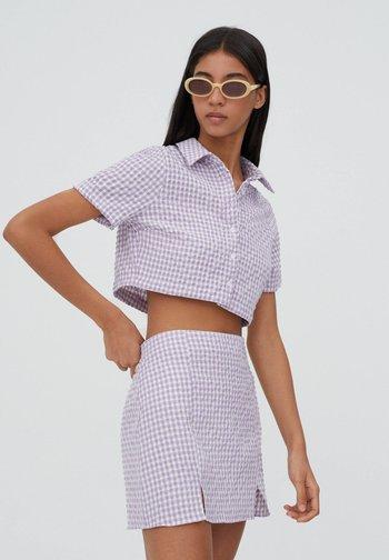 Button-down blouse - dark purple