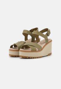 Timberland - KORALYN X STRAP - Platform sandals - olive - 2