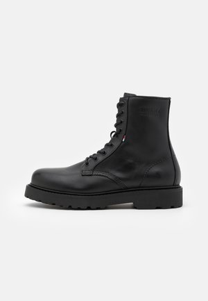 MENS LACE UP BOOT - Snörstövletter - black