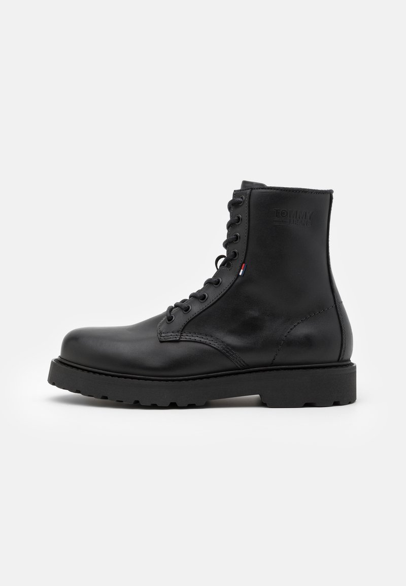 Tommy Jeans - MENS LACE UP BOOT - Schnürstiefelette - black