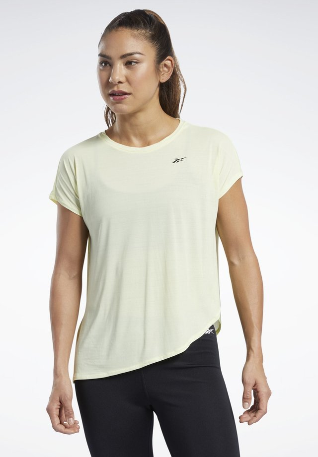 WORKOUT READY ACTIVCHILL TEE - Print T-shirt - yellow