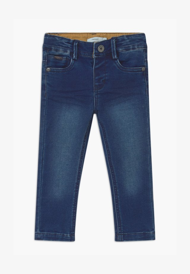 NMMTHEO - Straight leg jeans - dark blue denim
