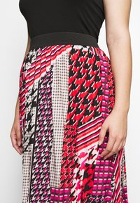 CAPSULE by Simply Be - PRINT PLEAT MIDI SKIRT - Pleated skirt - pink/black - 4