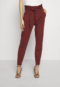 Vero Moda - VMEVA LOOSE PAPERBAG PANT - Pantalon classique - sable - 0