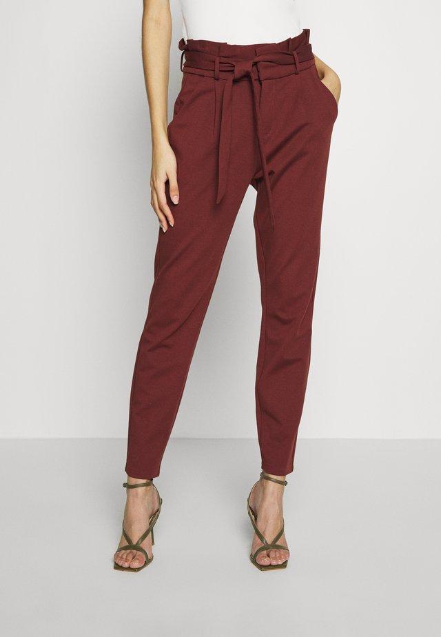 VMEVA LOOSE PAPERBAG PANT - Pantalon classique - sable