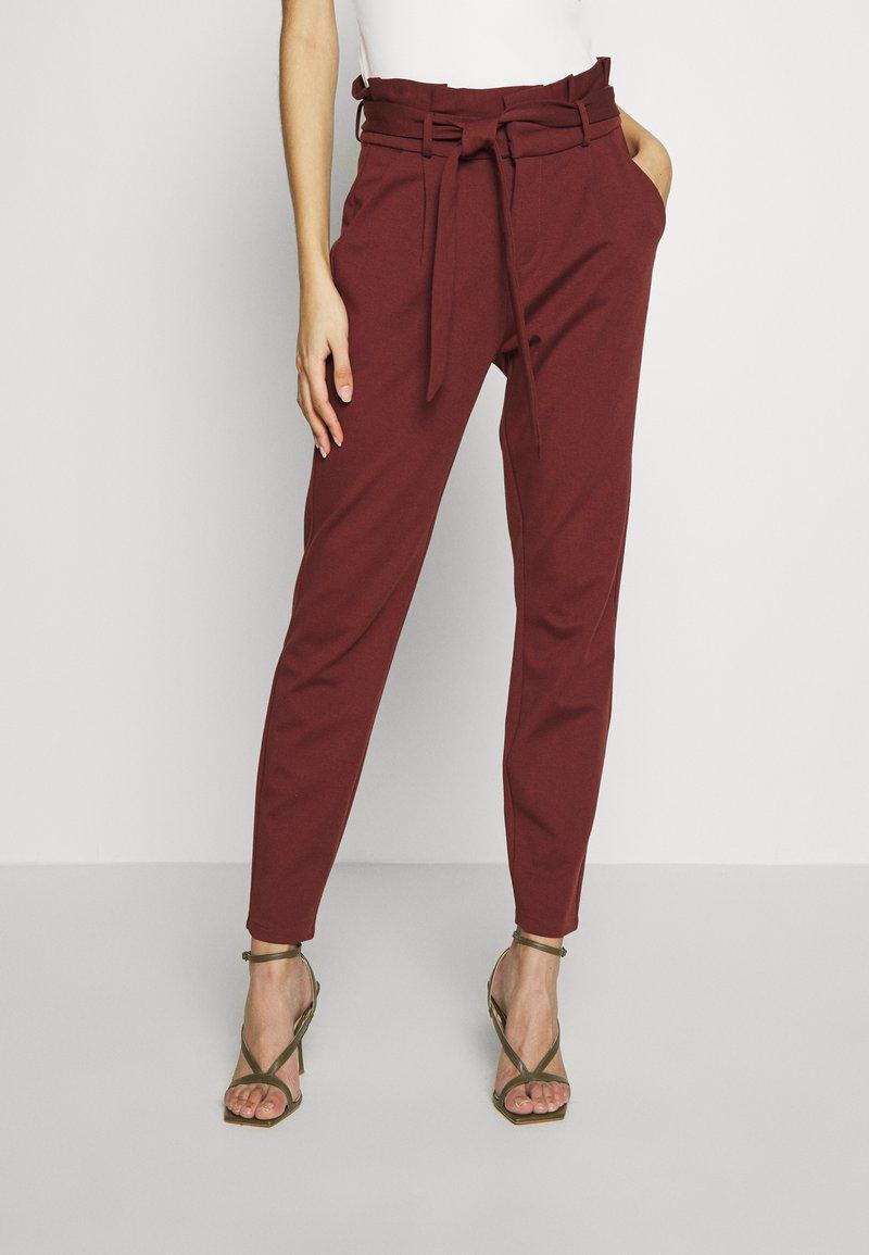 Vero Moda - VMEVA LOOSE PAPERBAG PANT - Pantalon classique - sable