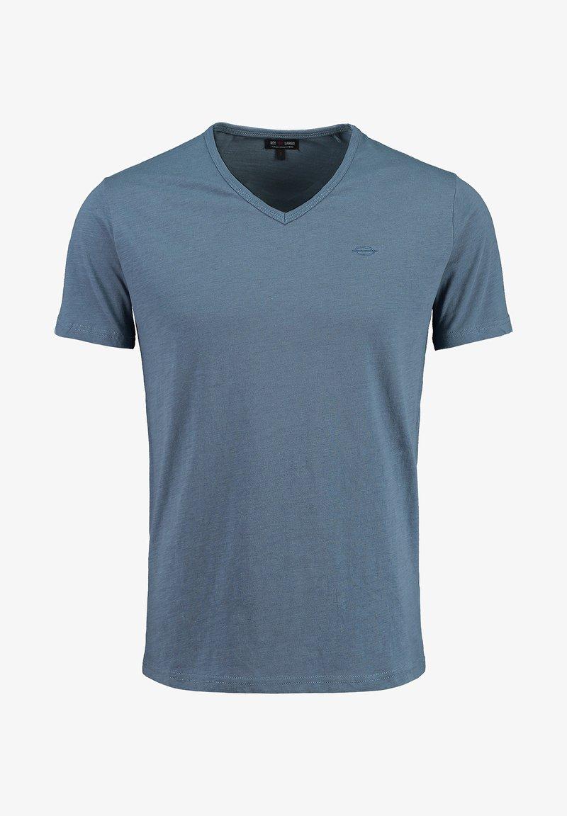 Key Largo - SUGAR  - Basic T-shirt - flintstone blue
