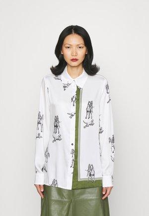 HUNTING PRINT SHIRT - Button-down blouse - white multi
