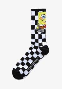 Vans - MN VANS X SPONGEBOB CREW (9.5-13, 1PK) - Strumpor - (spongebob) checkerboard - 0