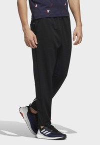 adidas Performance - MUST HAVES AEROREADY TRACKSUIT BOTTOMS - Tracksuit bottoms - black - 3