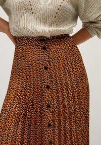 Violeta by Mango - PANTERA - A-line skirt - karamell - 3