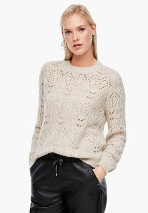 TRUI - Jumper - light sand melange