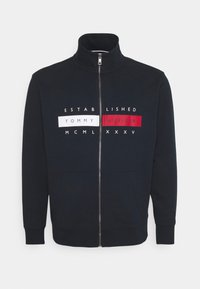 Tommy Hilfiger - GLOBAL ZIP THROUGH - Zip-up hoodie - desert sky - 0