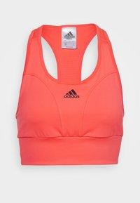 adidas Performance - Sujetadores deportivos con sujeción media - pink/black - 4