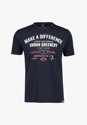 MAKE A DIFFERENCE - Print T-shirt - navy