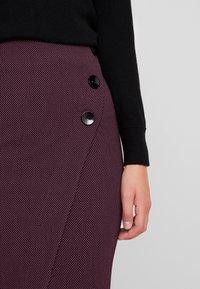Closet - MIDI PENCIL DRESS - Pencil skirt - maroon - 3