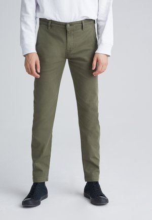 XX CHINO SLIM FIT II - Chinosy - bunker olive shady