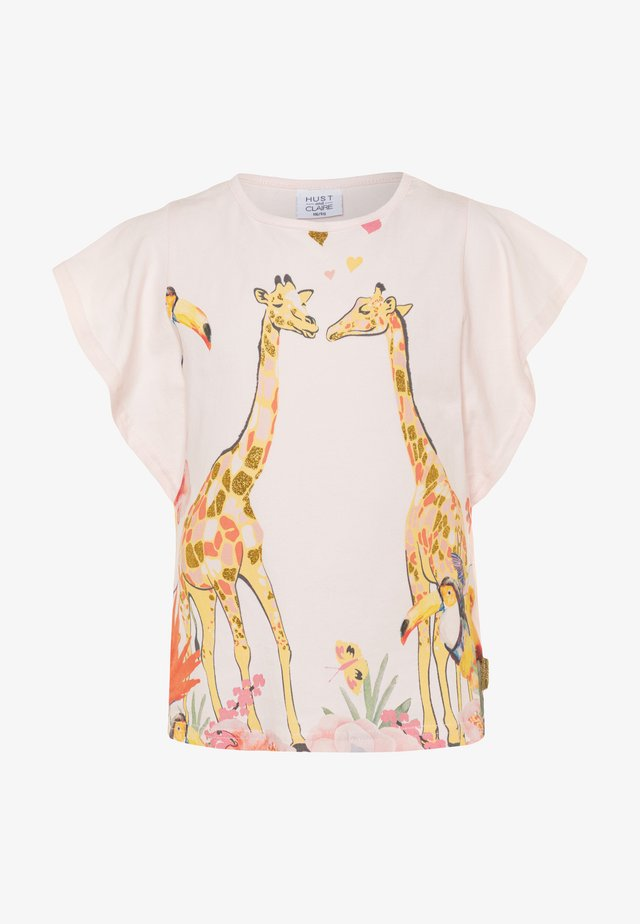 ALLY - T-shirt print - rosewater