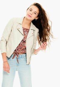 Garcia - Faux leather jacket - sand - 1