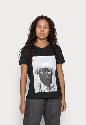 VMLIZOLLY TOP BOX  - Print T-shirt - black