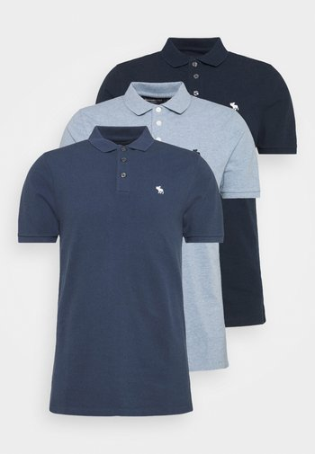 CROSS CHEST TECH 3 PACK - Polo - blue heather/bering sea/navy