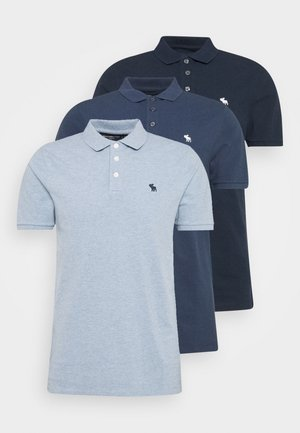 CROSS CHEST TECH 3 PACK - Poloshirts - blue heather/bering sea/navy