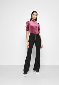 Monki - NARIN TOP - Long sleeved top - wine red - 1