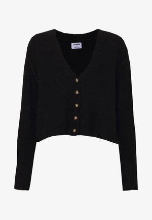 SEAM CROP  - Cardigan - black