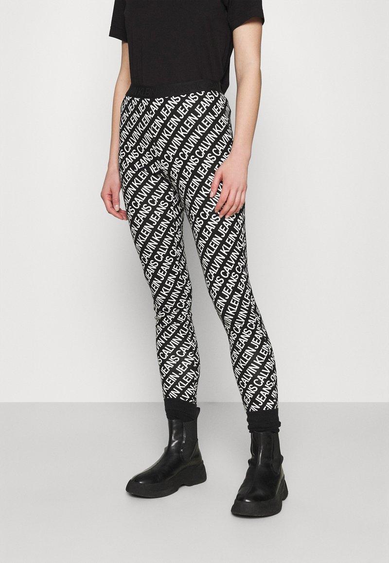 Calvin Klein Jeans - MILANO LOGO  - Leggings - Trousers - institutional black
