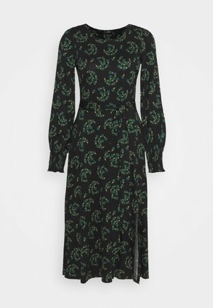 FAN FLORAL DRESS - Day dress - green