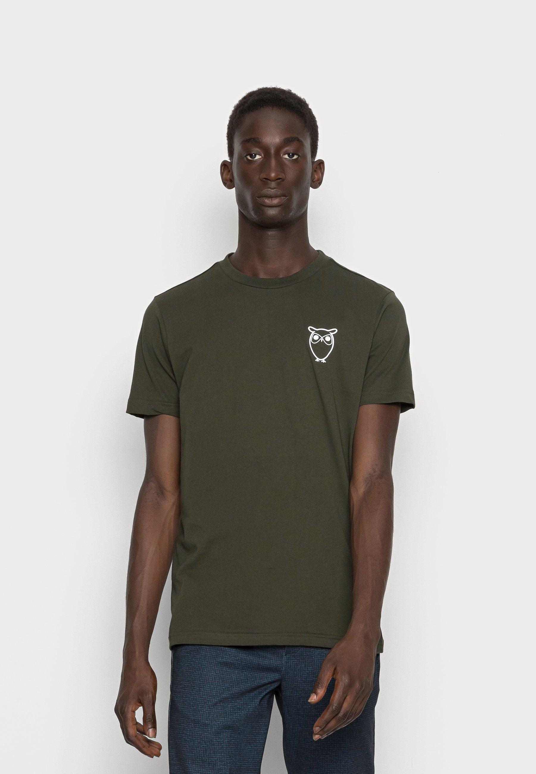 Uomo ALDER OWL CHEST TEE - T-shirt basic