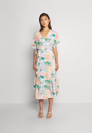 POST CARD WRAP DRESS - Maxi dress - multi-coloured