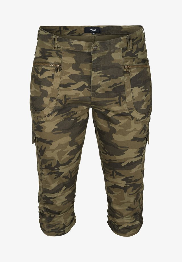 MIT CAMOUFLAGEPRINT - Shorts - green