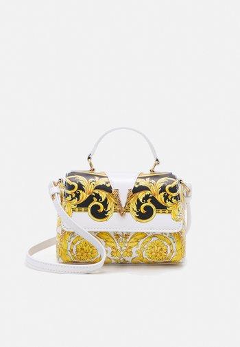 BAG - Across body bag - black/white/gold/gold