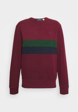 Sweatshirt - bordeaux/dark green/dark blue
