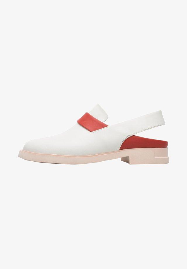 Slingback ballet pumps - weiß