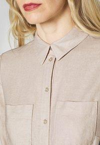 Esprit - Skjortklänning - sand - 5
