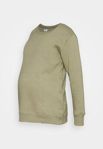 MATERNITY BUTTON SIDE - Sweatshirt - soft moss