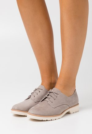 WIDE FIT LUSH LOAFER - Lace-ups - grey