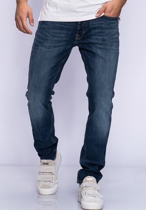 JJGLENN JJARIS - Slim fit jeans - dark blue denim