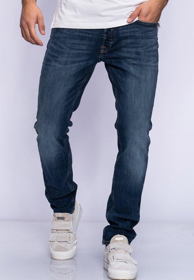 JJGLENN JJARIS - Straight leg jeans - dark blue denim