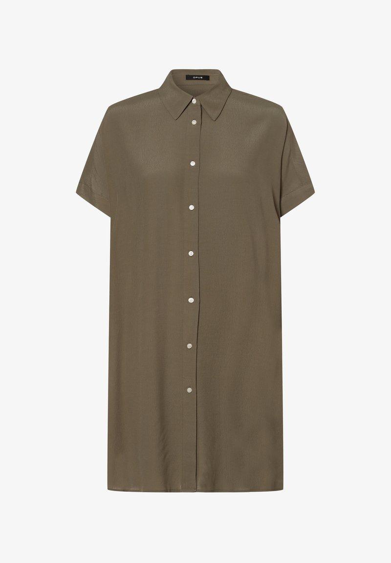 Opus - FARTAN - Button-down blouse - oliv